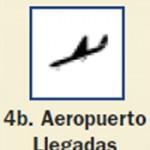 Pictograma señal de aeropuerto llegadas 4b