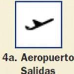 Pictograma señal de aeropuerto salidas 4a