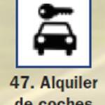 Pictograma señal de alquiler de coches 47