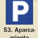 Pictograma señal de aparcamiento 53