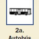 Pictograma señal de autobus 2a