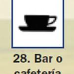 Pictograma señal de bar o cafeteria 28