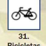 Pictograma señal de bicicletas 31