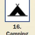 Pictograma señal de camping 16