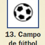 Pictograma señal de campo de futbol 13