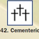 Pictograma señal de cementerio 42