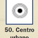 Pictograma señal de centro urbano 50