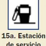 Pictograma señal de estacion de servicio 15a