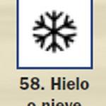 Pictograma señal de hielo o nieve 58