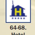 Pictograma señal de hotel 64 68