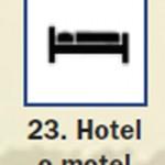 Pictograma señal de hotel motel 23