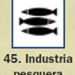 Pictograma señal de industria pesquera 45