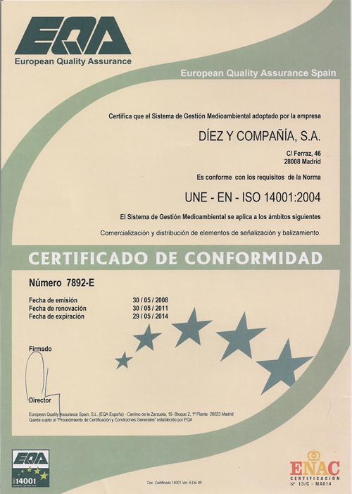 La Tienda de Señales de Madrid - Norma ISO 14001