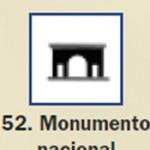 Pictograma señal de monumento nacional 52
