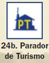 Pictograma señal de parador turismo 24b