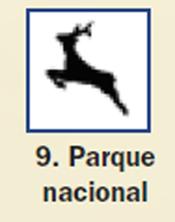 Pictograma señal de parque nacional 9