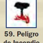 Pictograma señal de peligro de incendio 59