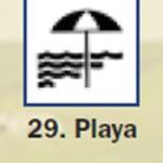 Pictograma señal de playa 29