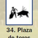 Pictograma señal de plaza de toros 34