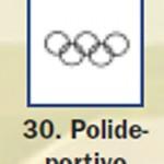Pictograma señal de polideportivo 30
