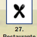Pictograma señal de restaurante 27