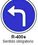 Señal R-400e sentido obligatorio