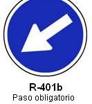 Señal R-401b paso obligatorio