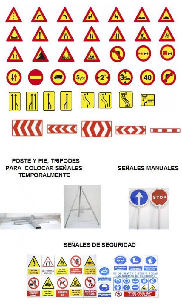 Venta de Señales para Obras Públicas en Madrid