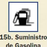 Pictograma señal de suministro de gasolina 15b