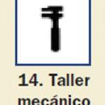 Pictograma señal de taller mecanico 14