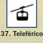 Pictograma señal de teleferico 37