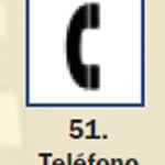 Pictograma señal de telefono 51