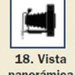Pictograma señal de vista panoramica 18