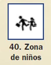 Pictograma señal de zona de niños 40