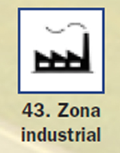 Pictograma señal de zona industrial 43