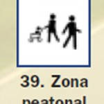 Pictograma señal de zona peatonal 39