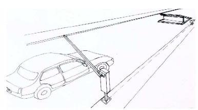 Barrera de acceso con obstaculos de seguridad