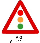 Señal P-3 semáforos