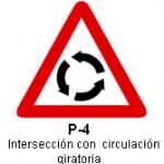 Señal P-4 intersección con circulación giratoria