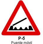 Señal P-5 puente móvil