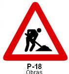 Señal P 18 obras