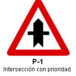 Señal P-1 intersección con prioridad