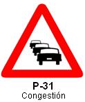 Señal P 31 congestión