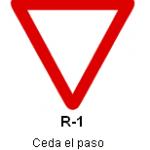 Señal R-1 ceda el paso