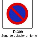 Señal R-310 zona de estacionamiento limitado