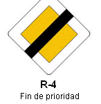 Señal R-4 fin de prioridad